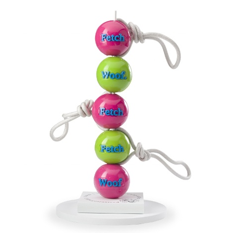 Orbee Tuff FETCH Ball with a Rope - Pink 2
