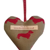 L&S Interiors - Red Daxi Lavender Heart