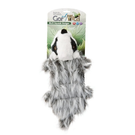 Gor Wild Multi-Squeak Dog Toy - Badger
