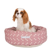 Mutts & Hounds - Heather Bone Linen Donut Bed
