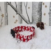 The Spotted Dog Company - Santa Dog Collar with Christmas Jingle