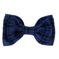Dog Collar Bow Accessory - Tartan Blue 2