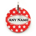 Red Star Pet ID Tag