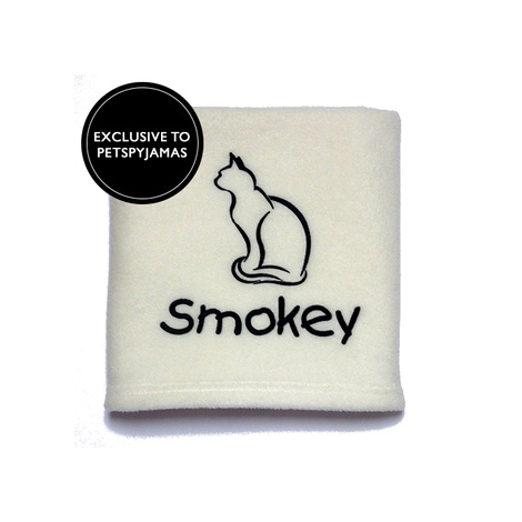 Personalised Cat Blanket - Ivory