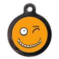 Funny Yellow Face Dog ID Tag