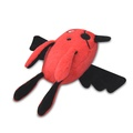Red T-Pee Monster Plush Dog Toy 2