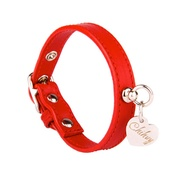 Chihuy - Red and Silver Leather Collar