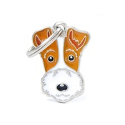 My Family - Fox Terrier Engraved ID Tag