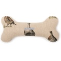 Grouse Linen Squeaky Bone Toy