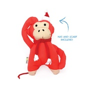 Beco Pets - Michelle the Monkey Squeaky Christmas Dog Toy