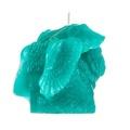 Winged Pug Candle - Turquoise 2