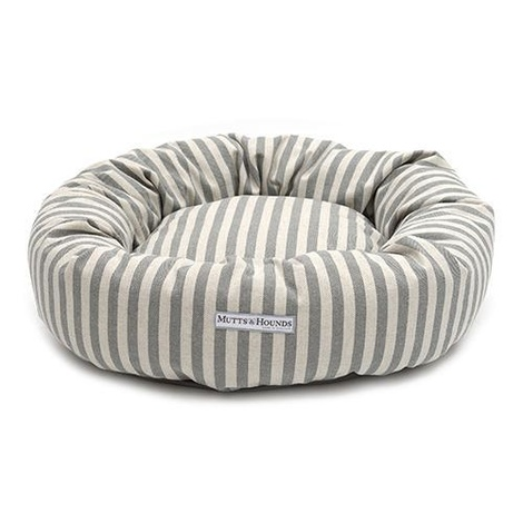 Flint Stripe Brushed Cotton Donut Dog Bed