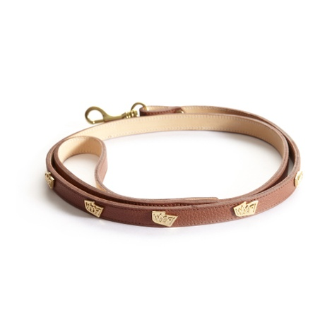 Woof Leather Dog Lead - Brown 3