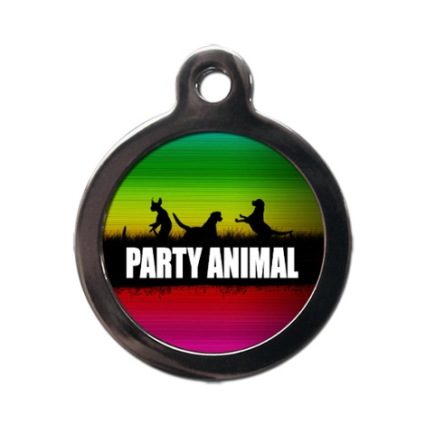 Party Animal Pet ID Tag