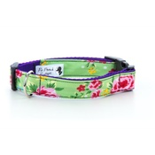 "Pet Pooch Boutique - Green Vintage Dog Collar 1"" Width"