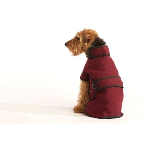 Maroon Wool Blazer Dog Coat 4