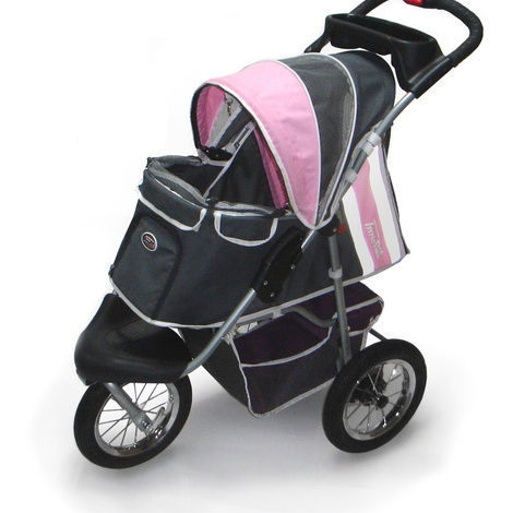 Pink/Grey Buggy comfort with Airfilled Tyres