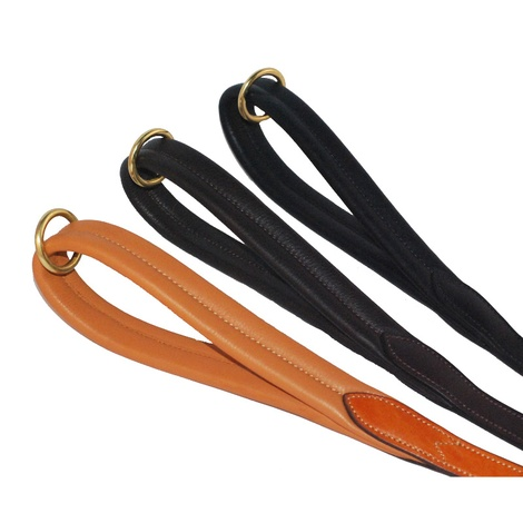 Luxury Leather Dog Lead with Padded Handle – Black 4