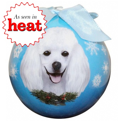 White Poodle Christmas Bauble