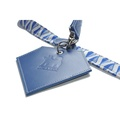 Leather Diamond Poo Bag Pouch - Navy 4