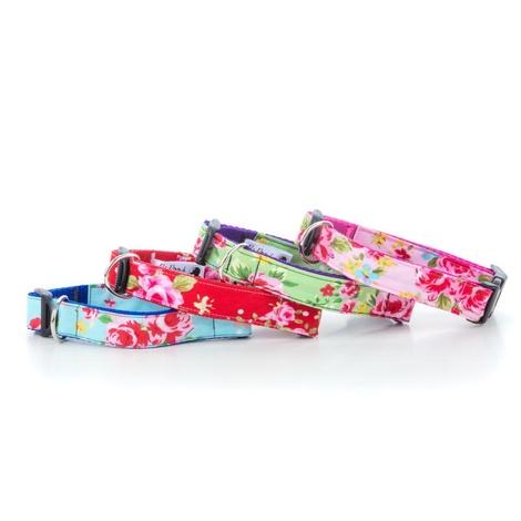"""Pink Vintage Dog Collar 1"""" Width 2"""
