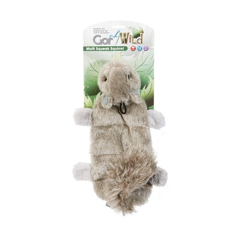 Gor Wild Multi-Squeak Dog Toy - Squirrel