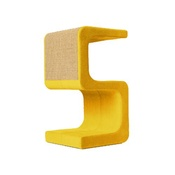 Catworks - Scratching Post - Letter S - Yellow