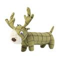 Green Tweed Long Stag Dog Toy