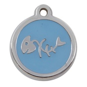 Tagiffany - My Sweetie Light Blue Fishbone Pet ID Tag