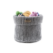Bowl&Bone Republic - Cotton Toy Basket - Grey