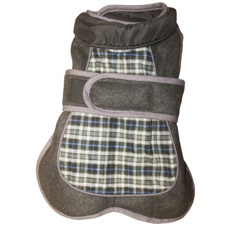 Go Walk Tweed Dog Coat – Blue Check
