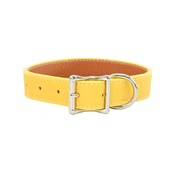 Auburn Leathercrafters - Tuscany Leather Dog Collar – Yellow