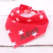 Pet Pooch Boutique - Personalised Red Star Dog Bandana