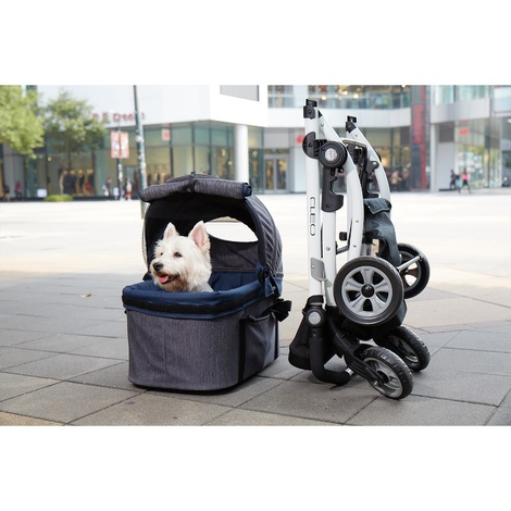 Cleo Denim Pet Buggy with Detachable Carrier 2