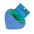 Leather Heart Poo Pouch – Botanical Blue 4