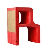 Catworks - Scratching Post - Letter R - Red