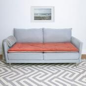 The Lounging Hound - Plush Velvet Sofa Topper - Tea Rose