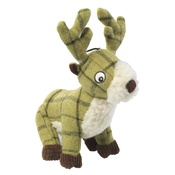 House of Paws - Green Tweed Plush Stag Dog Toy