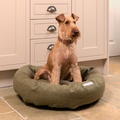 Forest Green Tweed Donut Bed 9