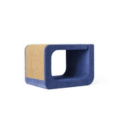 Catworks - Scratching Post - Letter O - Blue
