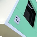 Cat Toilet - White & Green 3