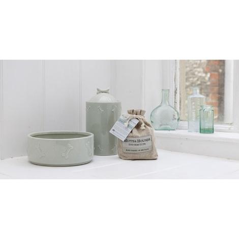 Ceramic Dog Bowl - Sage Green 4