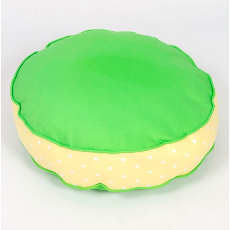 Bon Bon Soft Dog Bed - Green Spot 2