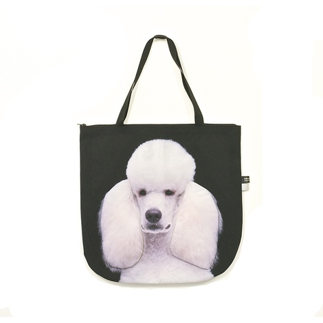 Harlequin the White Standard Poodle Dog Bag