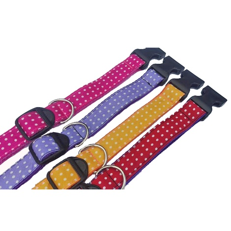 Pink Polka Dot Dog Collar 2