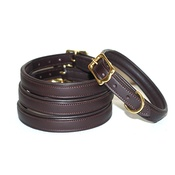 Pear Tannery - Lined & Padded Leather Dog Collar - Brown