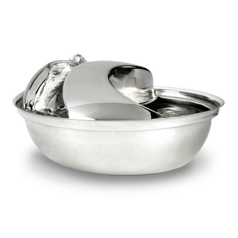 Rain Drop Stainless Steel Pet Drinking Bowl