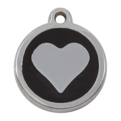 Tagiffany - My Sweetie Black Heart Pet ID Tag