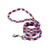 Yellow Dog - Braided Dog Lead – Red, White & Blue