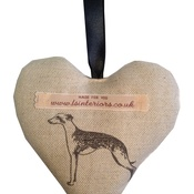 L&S Interiors - Long Dog Lavender Heart